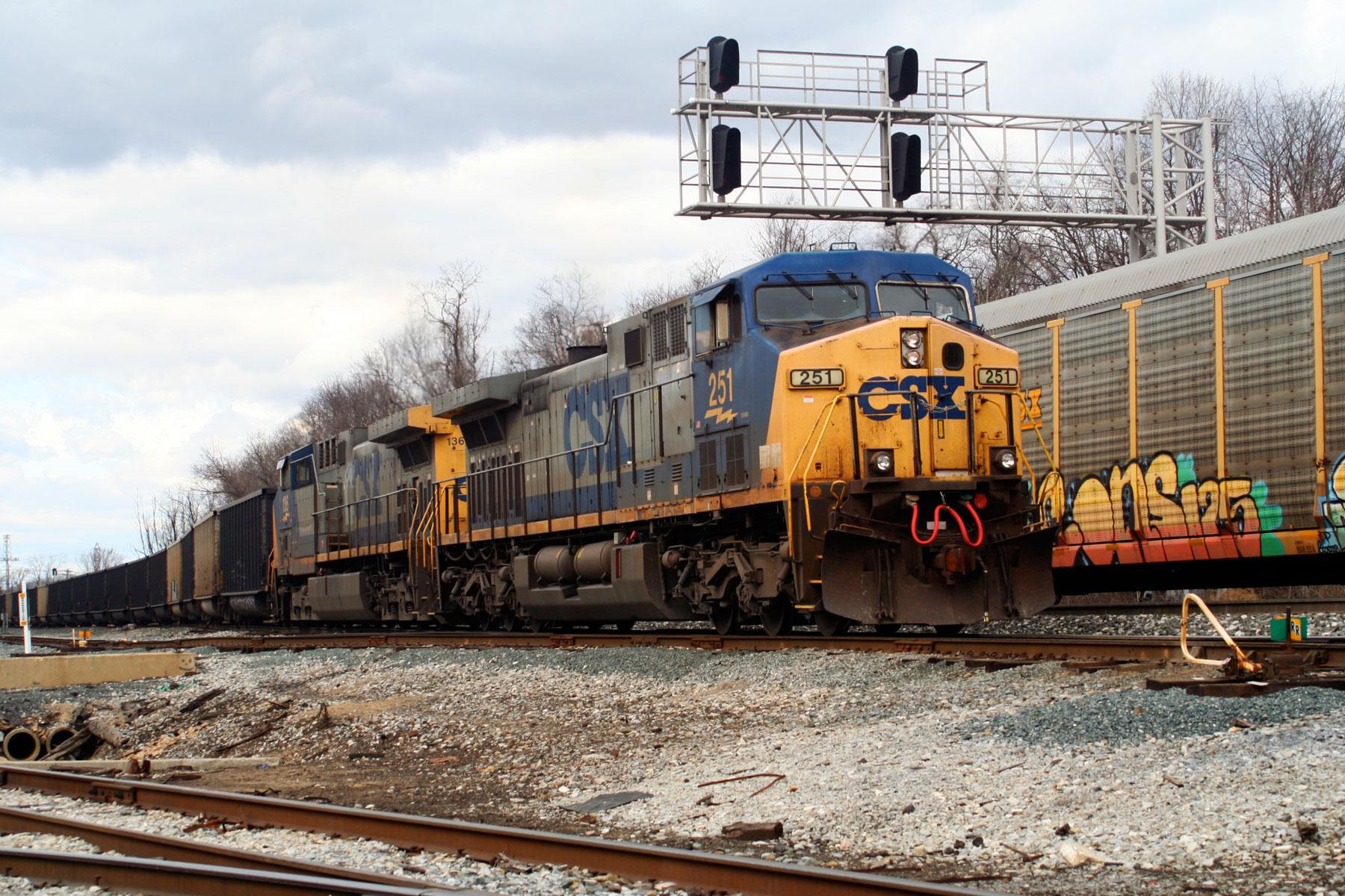 CSX Coal Train at Bayview