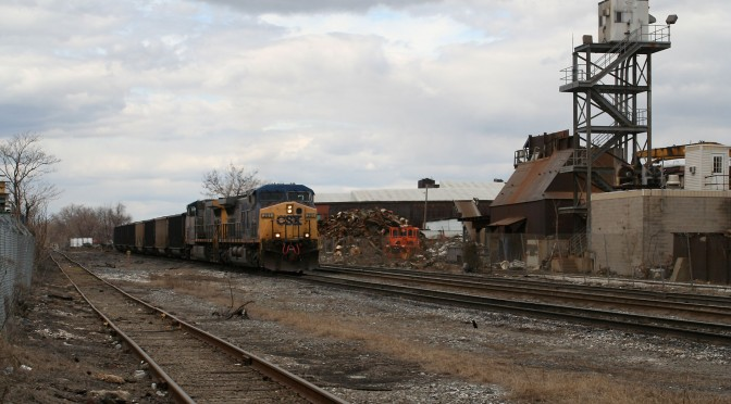 CSX Coal Train at O'Donnell St