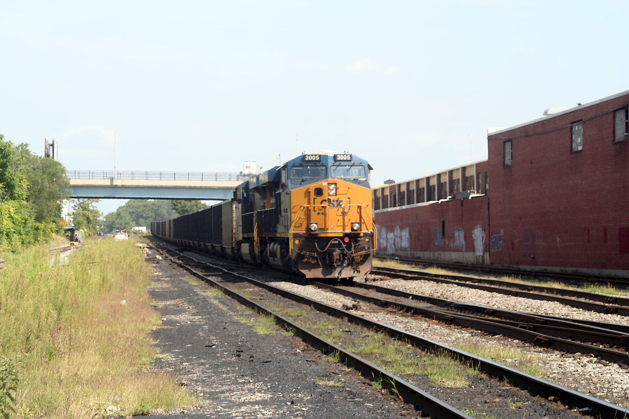 CSX Coal Train At Boston St