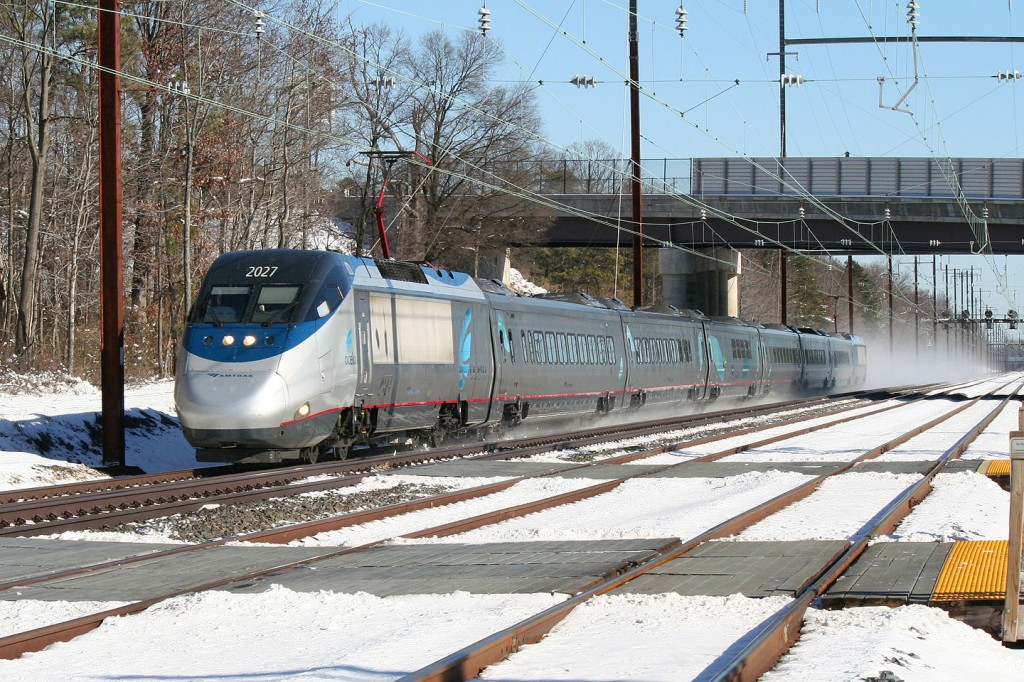 Southbound Acela at Martin State