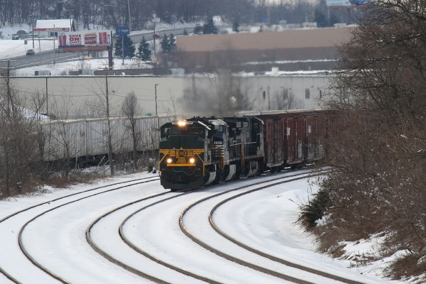 The Erie Unit Rounding the Curve at Beaver