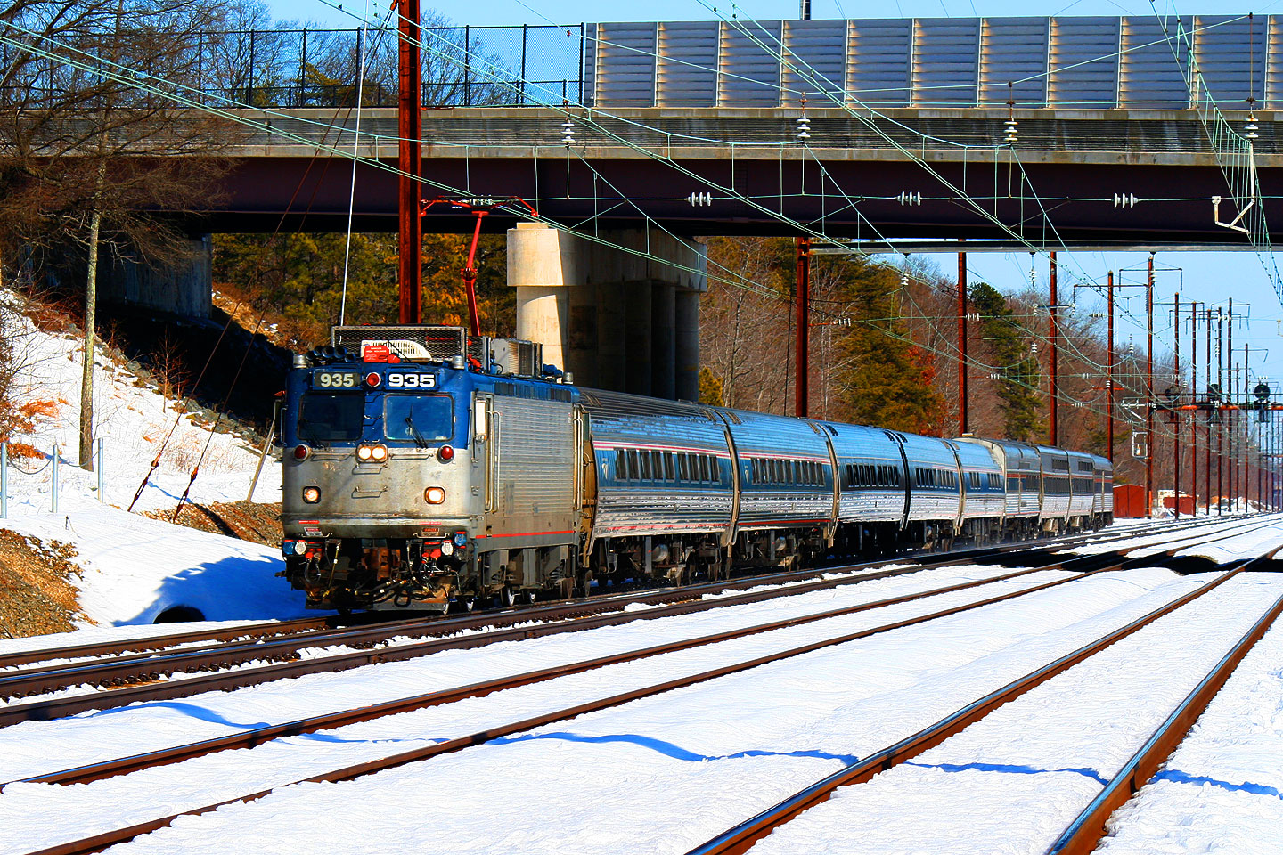 Amtrak Silver Service Train Heading South