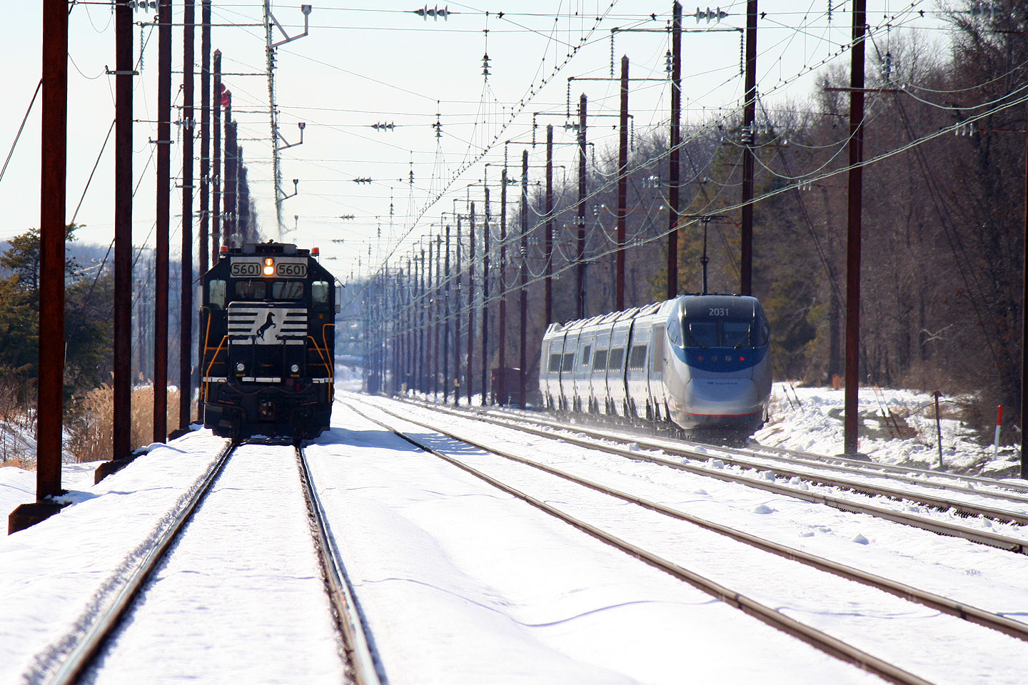 Acela and NS Local Heading South