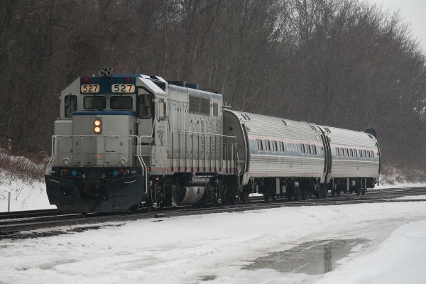Amtrak Extra At Lewistown
