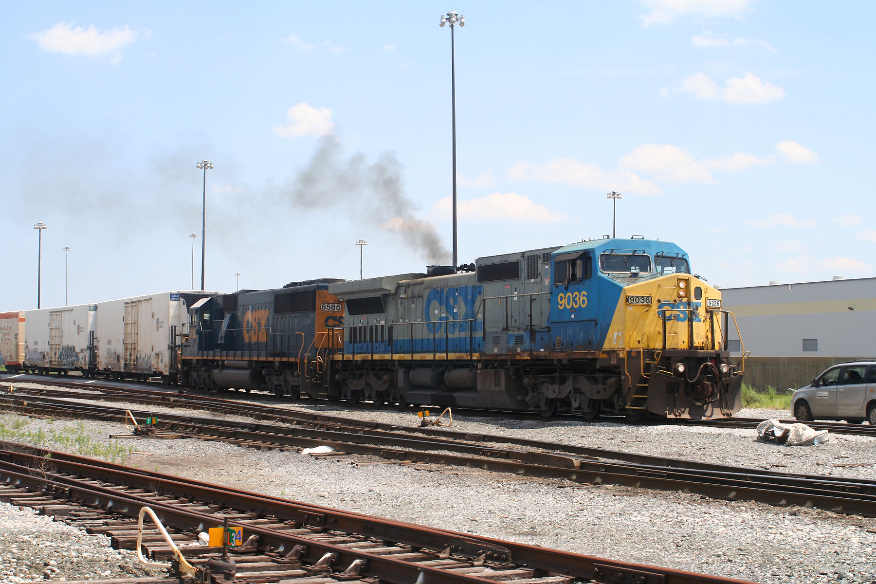 CSX Q398 Starting at Andre St