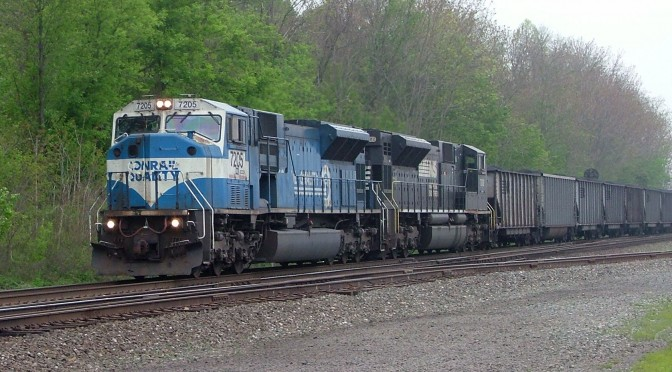 Former Conrail SD80MAC on a Coal Train In Lewistown