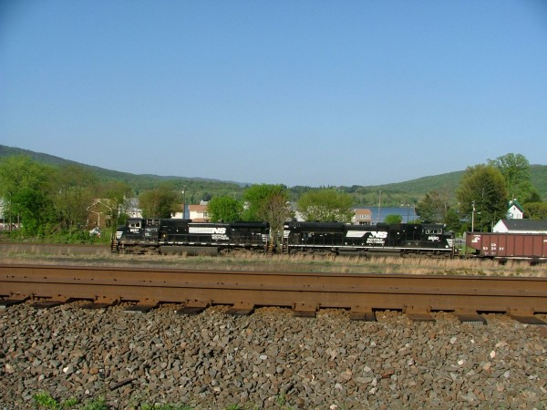 Empty Coal Train In Marysville PA