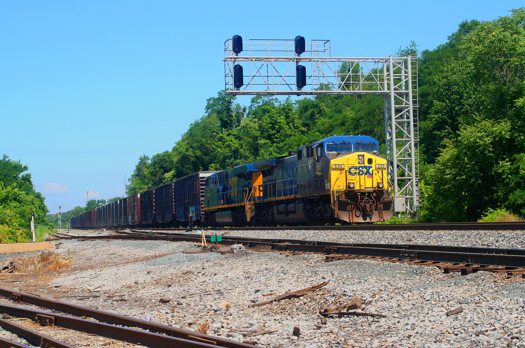 CSX Local D732 at Bayview