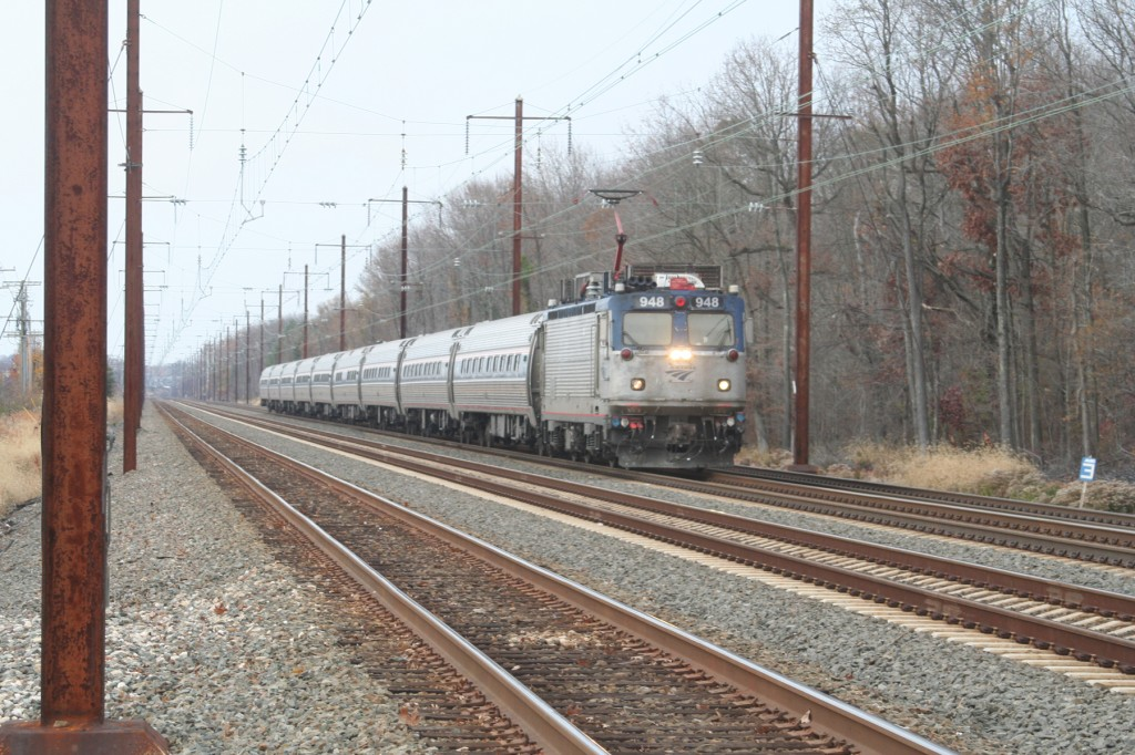 Amtrak AEM7 on 2012's Busiest Day
