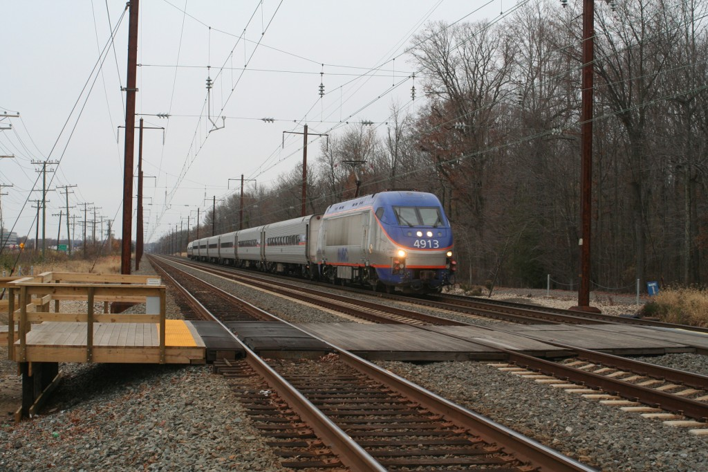 "Amtrak ""Commuter Extra"" with a MARC HHP Heading North"