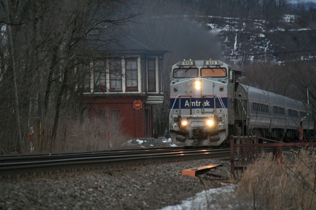 Amtrak Pennsylvanian Leaving Huntingdon