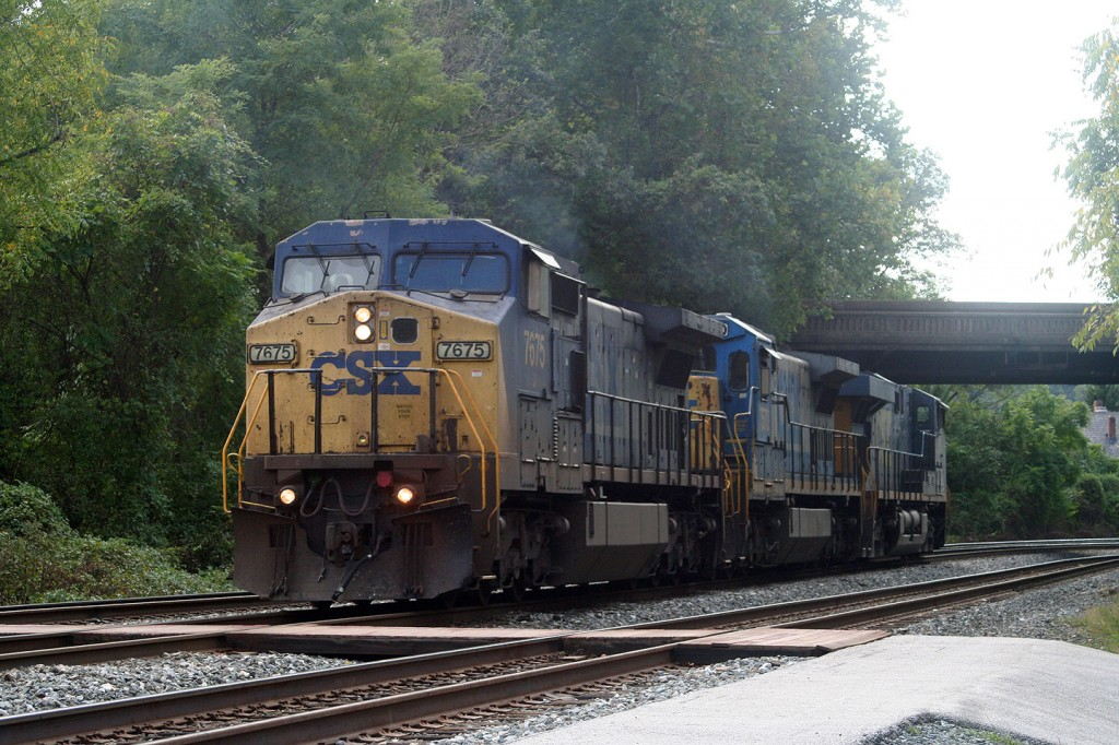 Trio of Light CSX Engines at St. Denis