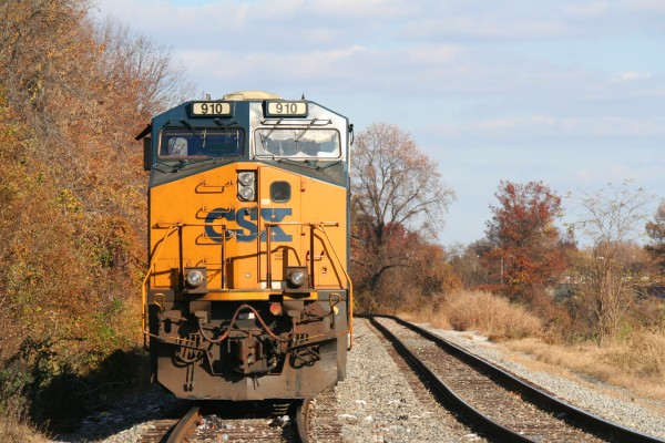 CSX 910 On a Coal Train At Gable Ave